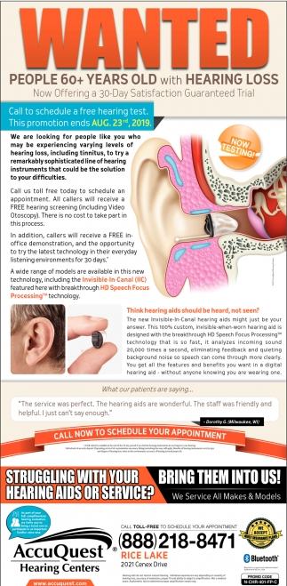 Call now for a FREE hearing screening