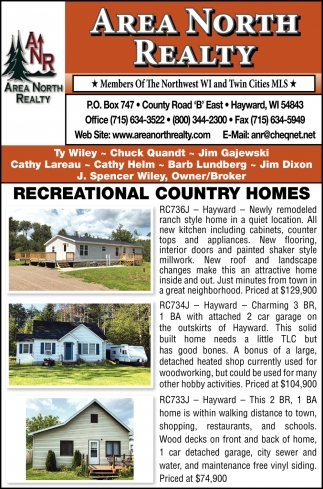 Recrational Country Homes