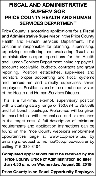 Fiscal and Administrative Superior