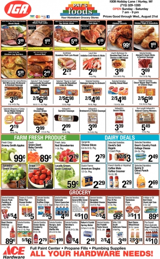 Meats, Farm Fresh Produce, Dairy Deals, Grocery