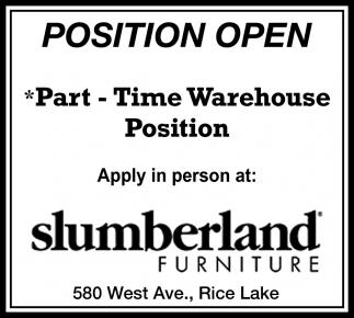 Warehouse Position