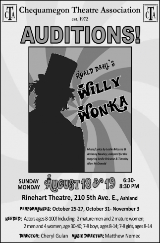 Auditions Willy Wonka
