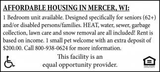 Affordable housing in Mercer