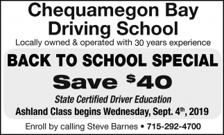 Back to School Special - Save $40