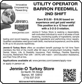 UTILITY OPERATOR