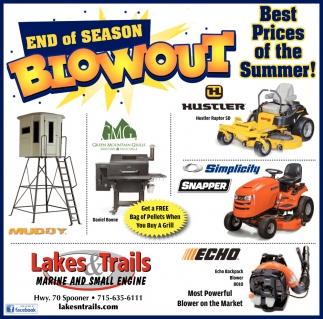 End of Season Blowout