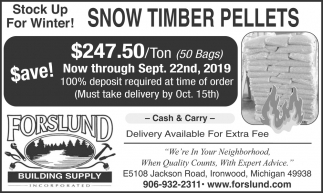 Snow Timber Pellets