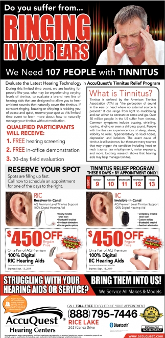 We Need 107 People with Tinnitus