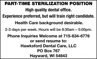 Sterilization Position