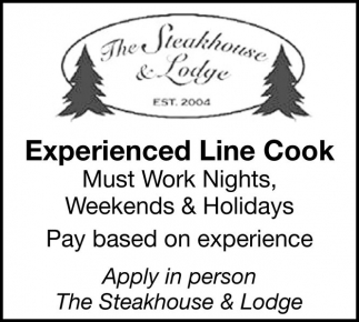 Experienced Line Cook