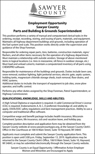 Parts and Buildings & Grounds Superintendent