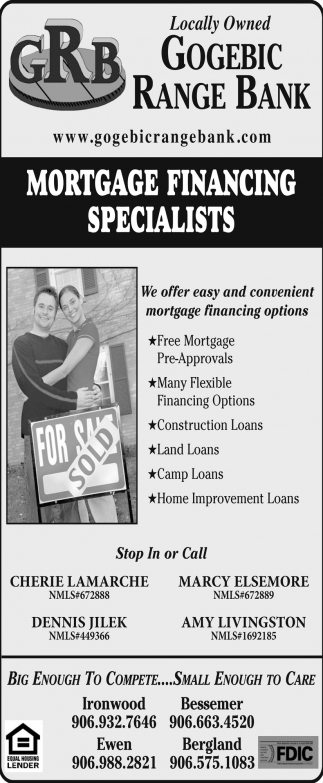 Mortgage Financing Specialists