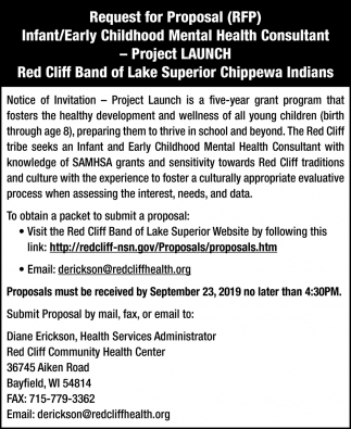 Request for Proposal Lead Evaluation -Project Launch
