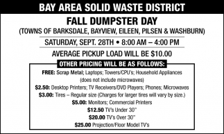 Fall Dumpster Day