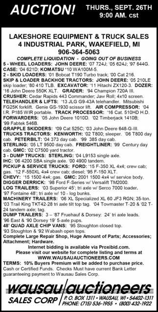 Lakeshore Equipment & Truck Sales