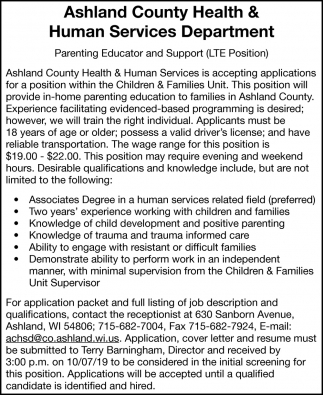 Parenting Educator and Support