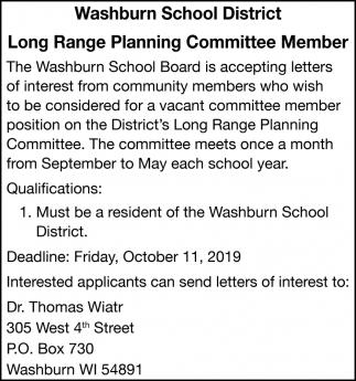 Long Range Planning Committee Member