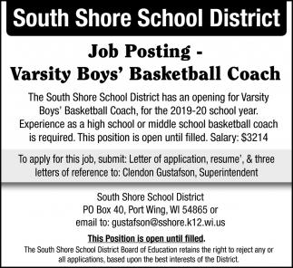Varsity Boys' Basketball Coach