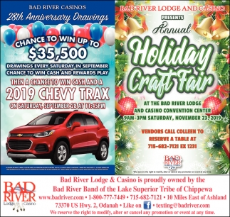 2019 Chevy Trax / Annual Holiday Craft Fair
