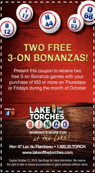 Two Free 3-on Bonanzas!