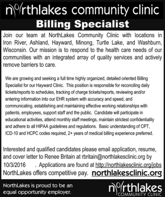 Billing Specialist