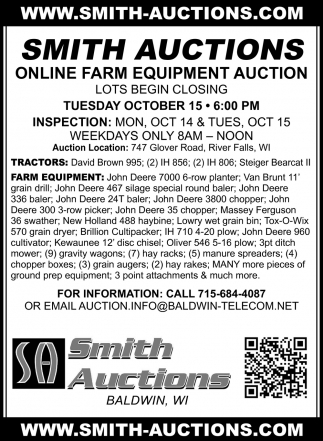 Online Farm Equipment Auctions