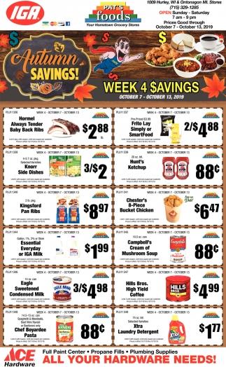 Autumn Savings!