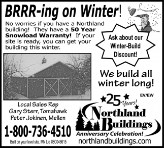 Ask about our Winter-Build Discount!