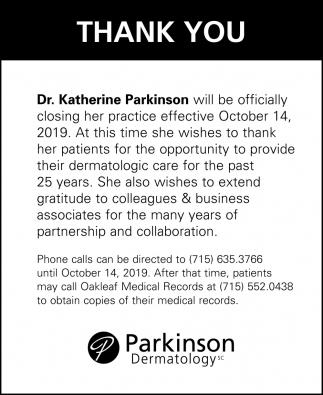 Dr. Katherine Parkinson