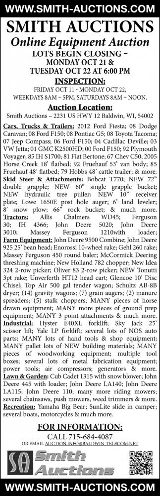 Online Equipment Auctions