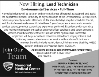 Lead Technician