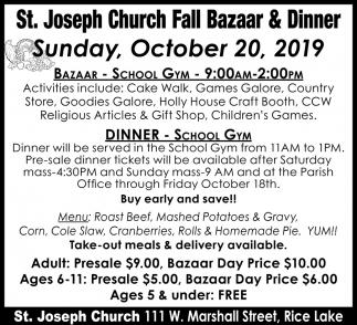 Fall Bazaar & Dinner