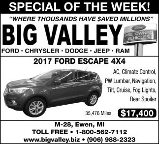 2017 Ford Escape 4X4