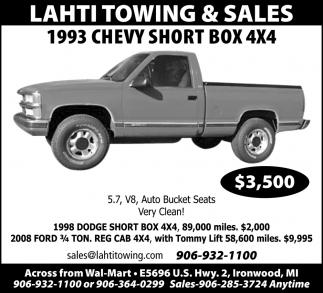 1993 Chevy Short Box 4x4