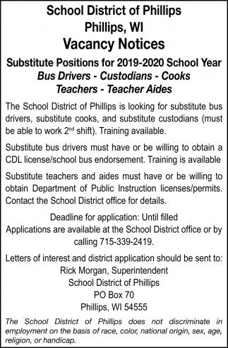 Bus Drivers, Custodians, Cooks, Teachers, Teacher Aides