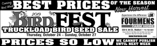2019 Bird Fest Truckload Bird Seed Sale