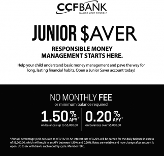 Junior Saver