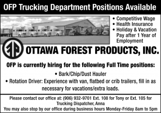OFP Trucking Department