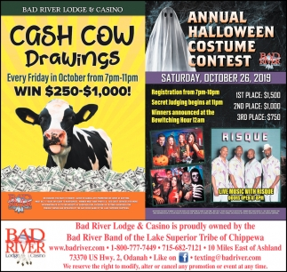 Cash Cow Drawings / Annual Holloween Costume Contest