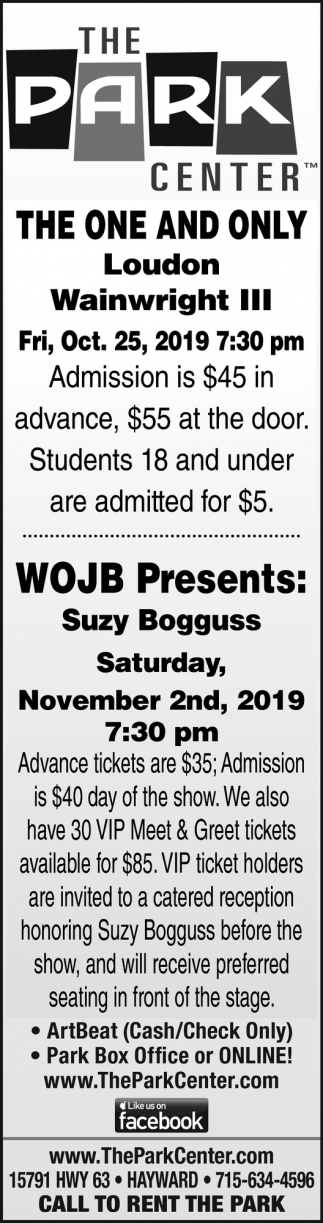 The One and Only Loudon Wainwright III, WOJB Presents Suzy Bogguss