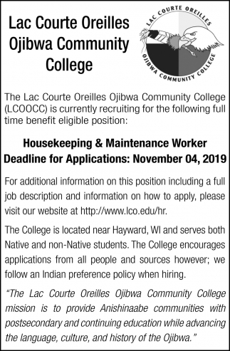 Housekeeping & Maintenace Worker