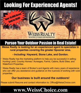 Pursue Your Outdoor Passion in Real Estate!