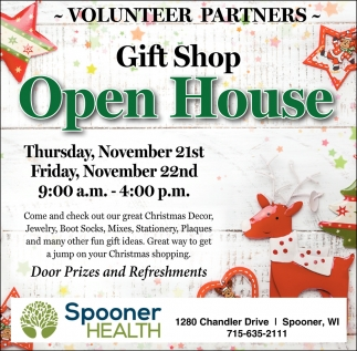 Gift Shop Open House