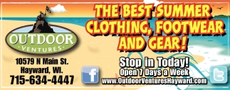 THE BEST SUMMER CLOTHING, FOOTWEAR AND GEAR!