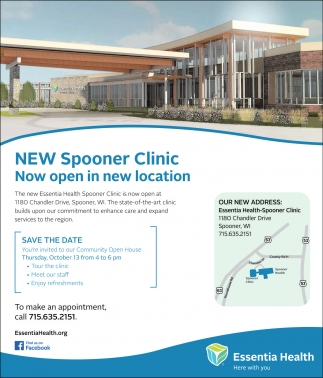 New Spooner Clinic. Now open in new location
