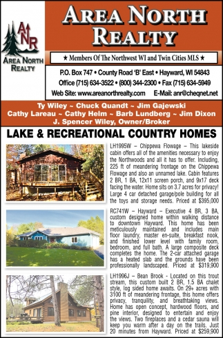 Lake & Recreational Country Homes