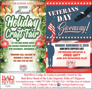 Annual Holiday Craft Fair / Veterans Day Giveaway