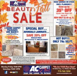 Beauti Fall Sale