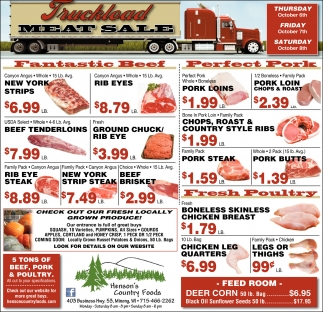Truckload Meat Sale