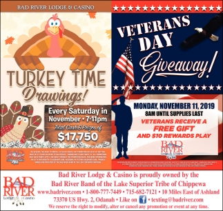 Turkey Time Drawings! / Veterans Day Giveaway